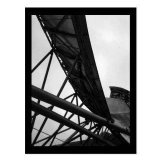 pabellón del pritzker:: invierno (b&w) postal