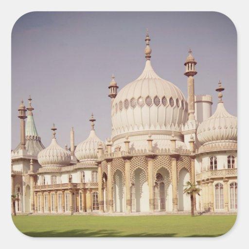 Pabellón real de Brighton Pegatina Cuadrada