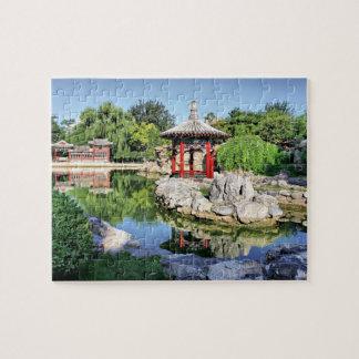Pabellón rojo puzzle con fotos