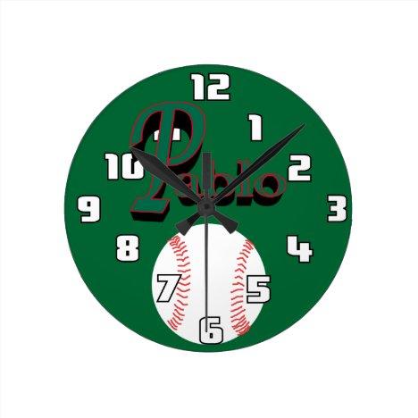 Pablo Baseball Clock