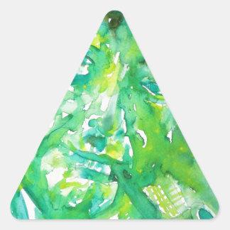 pablo neruda -watercolor portrait.4 triangle sticker