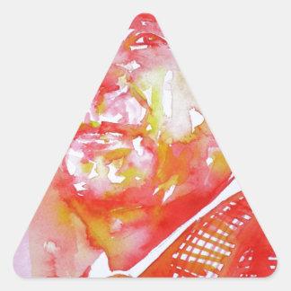 pablo neruda -watercolor portrait.5 triangle sticker