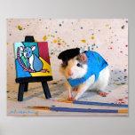 Pablo Racasso - el pintor de la rata Poster