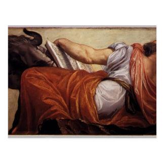 Pablo Veronese- St Luke Tarjeta Postal