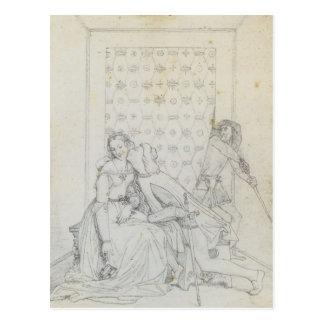 Pablo y Francisca de Jean Dominique Ingres Tarjeta Postal