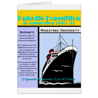 Pabodie Expedition Announcement Greeting Card