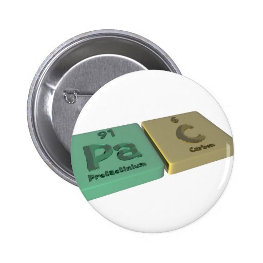 Pac como Protactinium del PA y carbono de C Pins