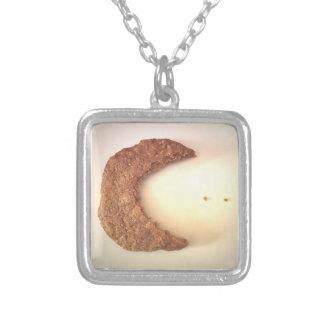 Pac-Cookie Square Pendant Necklace