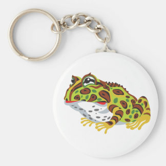 pac-man horned frog keychain