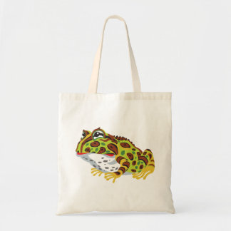 pac-man horned frog tote bag