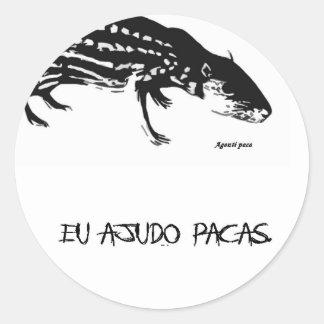 Paca adhesive classic round sticker