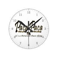 Paca Paca Peruvian Paso Thing Round Clocks
