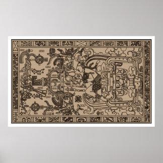 Pacal s Sarcophagus - Ancient Mayan Carving Poster