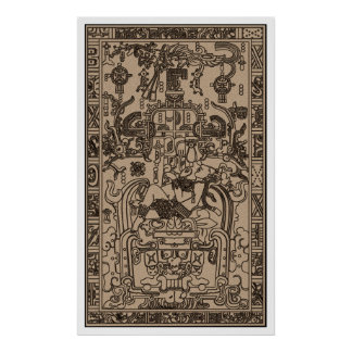 Pacal s Sarcophagus - Ancient Mayan Spaceship Posters