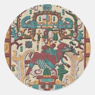 Pacal's Tomb Classic Round Sticker