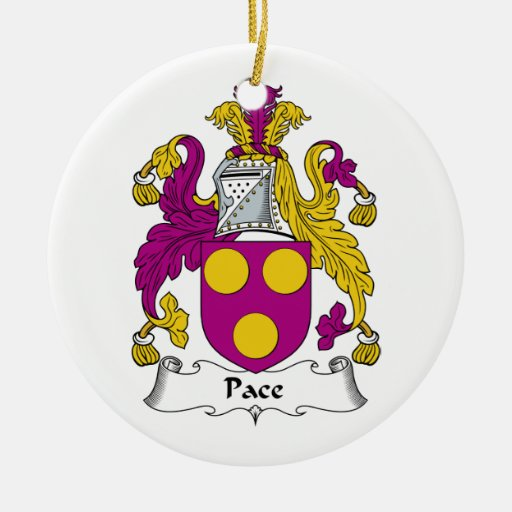 Pace Family Crest Christmas Ornament