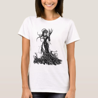 Paced Heart Dark Angie White T-Shirt