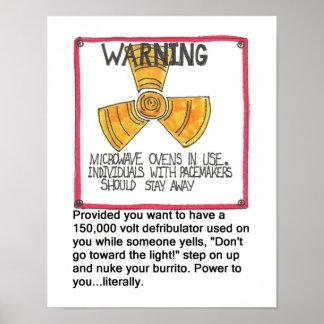 Pacemaker Warning Print