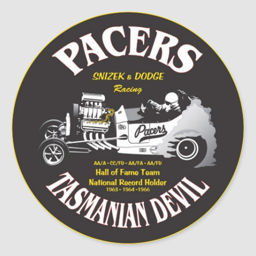 Pacers Auto Decal Classic Round Sticker