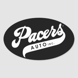 Pacers Auto Decal Oval Sticker