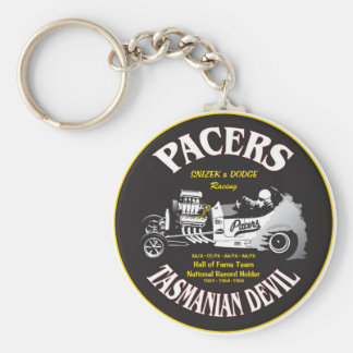 Pacers Auto Hall of Fame Design Basic Round Button Keychain