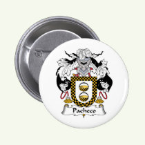 Pacheco Family Crest Button