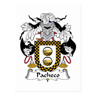 Pacheco Family Crest Post Cards