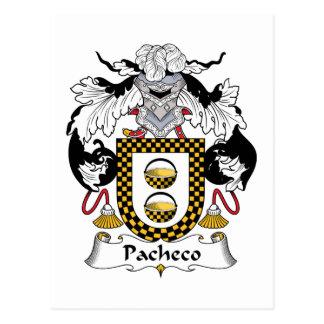 Pacheco Family Crest Postcard