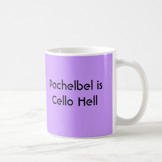 Pachelbel es infierno del violoncelo - taza