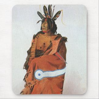 Pachtuwa-Chta, Arikara Warrior Portrait by Bodmer Mouse Pad