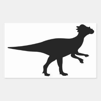 Pachycephalosaurus Dinosaur Rectangular Sticker