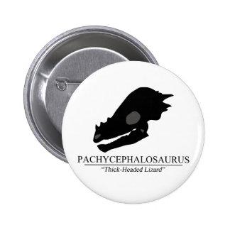 Pachycephalosaurus Skull Pinback Button