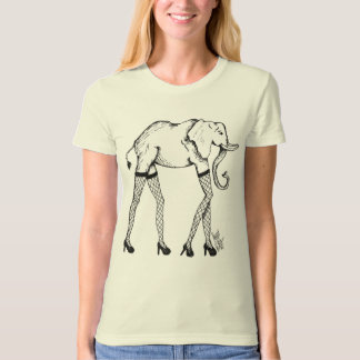 Pachyderm in stockings Organic Womans Shirt