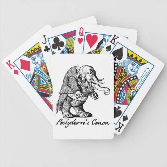 Pachyderm's Canon Violin playing Elephant Fiddle Bicycle Playing Cards