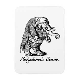Pachyderm's Canon Violin playing Elephant Fiddle Rectangular Photo Magnet