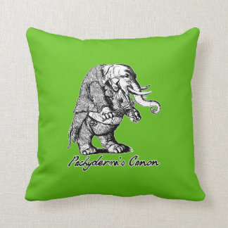 Pachyderm's Canon Violin playing Elephant Fiddle Throw Pillow