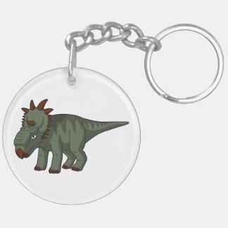 Pachyrhinosaurus Double-Sided Round Acrylic Keychain