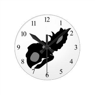 Pachyrhinosaurus Skull Round Clock