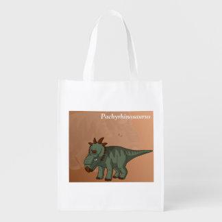 Pachyrhinosaurus (Two-Sided) Grocery Bag
