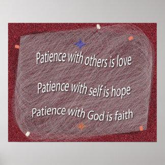 Paciencia con dios poster