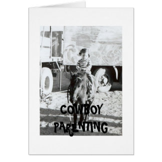 Paciencia con los niños - Parenting del vaquero Felicitaciones