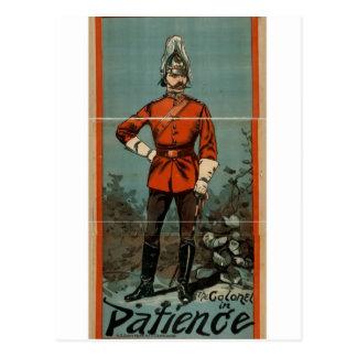 """Paciencia, """"el teatro del coronel"""" vintage tarjeta postal"""