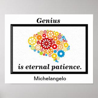 Paciencia eterna del genio póster
