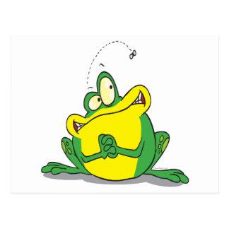 paciencia linda tonta del froggy para la mosca postal
