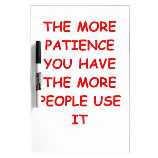 paciencia pizarras