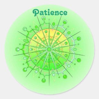 Paciencia (stiker de la virtud) pegatina redonda