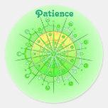 Paciencia (stiker de la virtud) pegatinas redondas