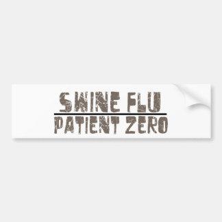 paciente cero de la gripe de los cerdos pegatina para auto