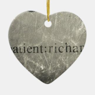 Paciente oficial: Richard Merch Adorno Navideño De Cerámica En Forma De Corazón