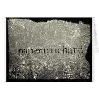 Paciente oficial: Richard Merch Tarjeta De Felicitación